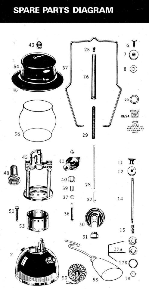 kerosene presser lamps parts