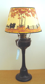 Pedestal Lamp, 1950u0027s Aladdin 1630 Tall Bakelite Lamp With Super Burner And  New 14u0027 Coach U0026 Four
